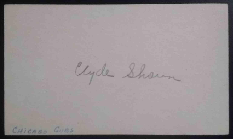 1935 3X5 Clyde Shoun card back image