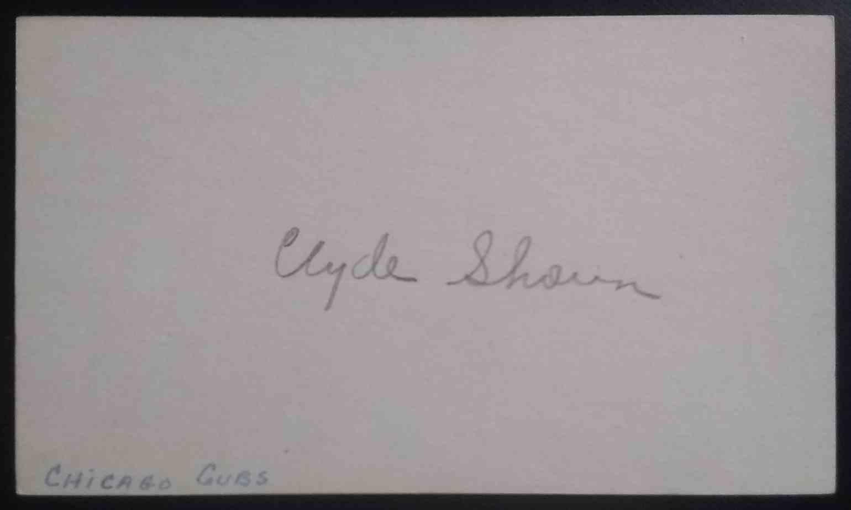 1935 3X5 Clyde Shoun card front image
