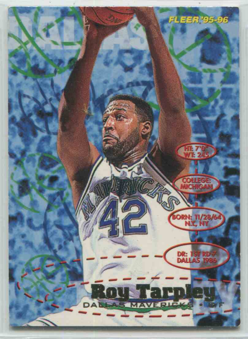1995 96 Fleer Roy Tarpley 39 on Kronozio
