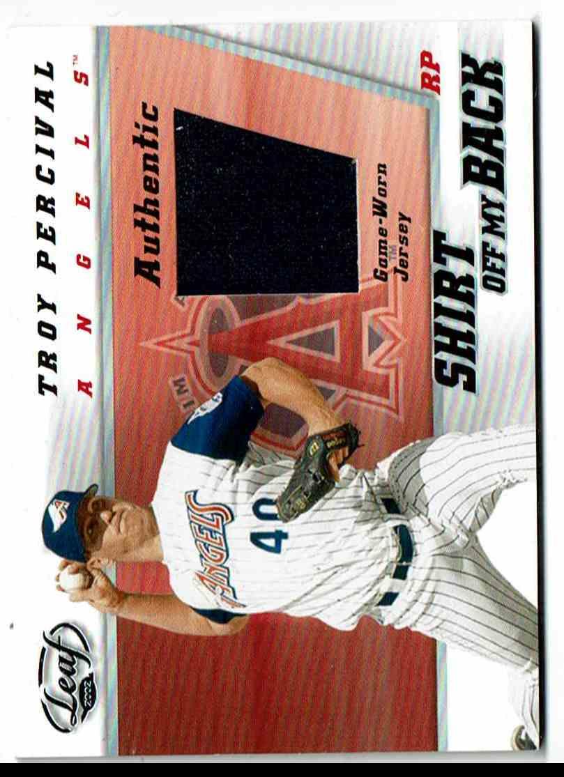 2002 Leaf Troy Percival #TP card front image