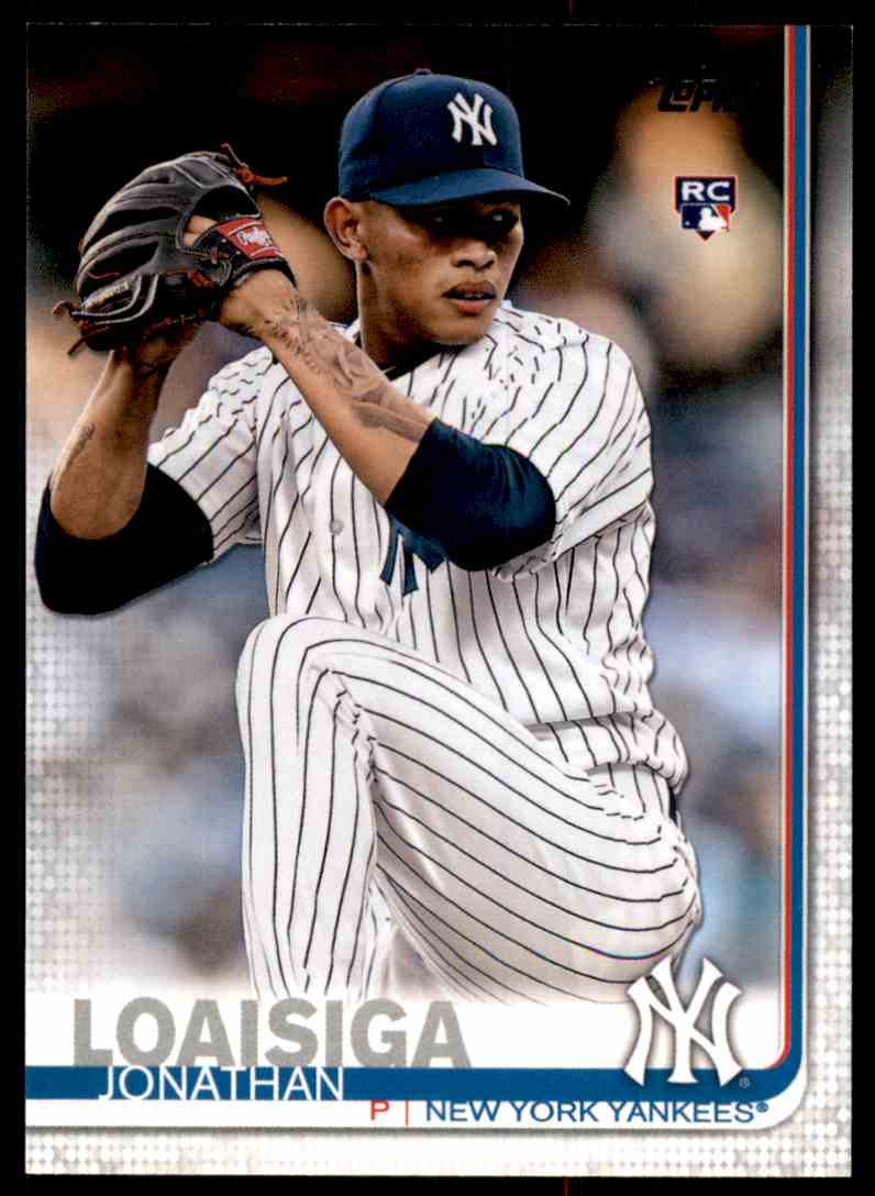 2019 Topps Jonathan Loaisiga #243 card front image