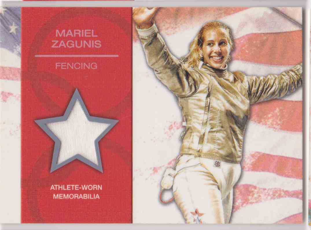 2012 Topps U.S. Olympic Team Relic Mariel Zagunis #OR-MZ card front image