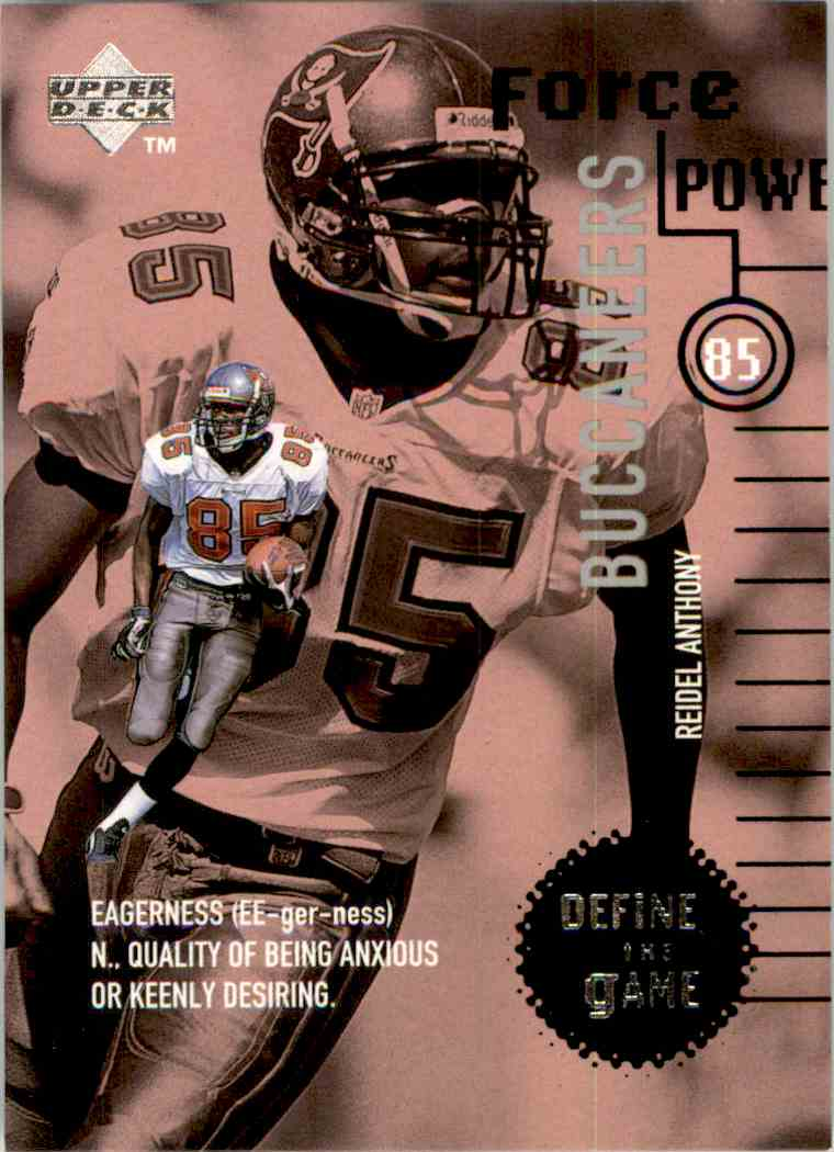 1998 Upper Deck Define The Game Reidel Anthony #DG22 card front image