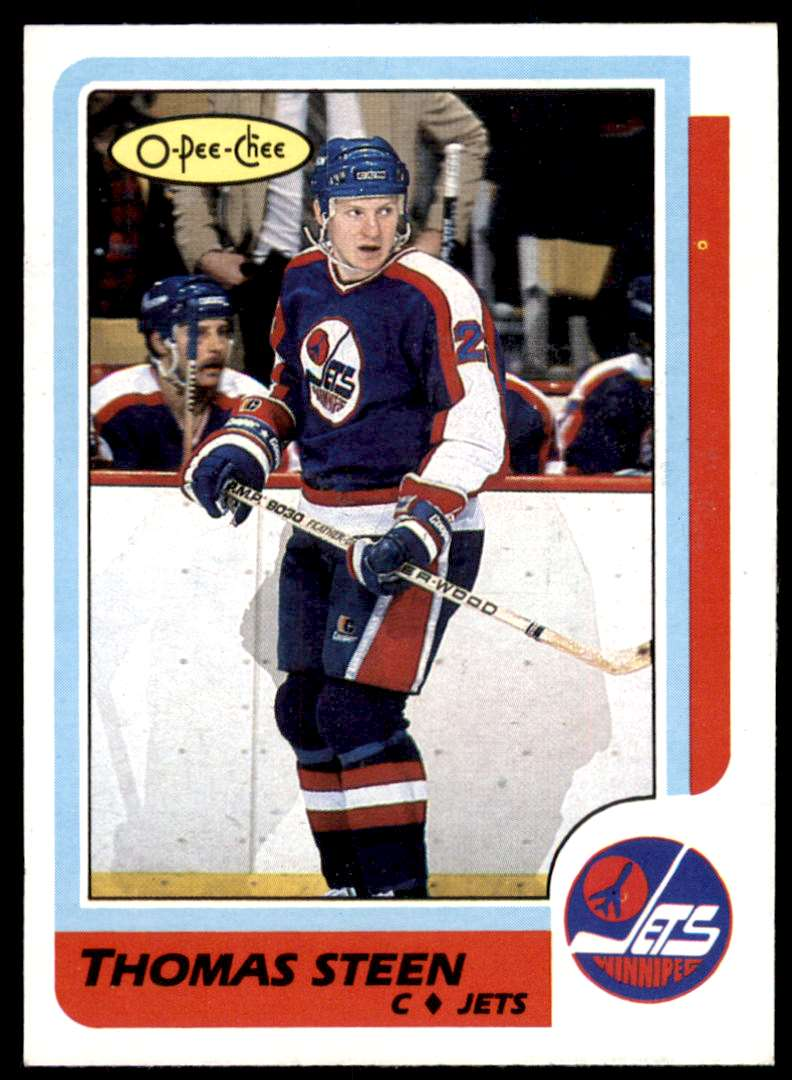 1986-87 OPC Thomas Steen #257 card front image