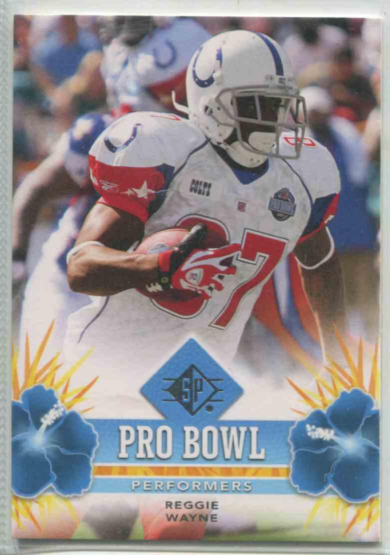 hot sale online 0be79 5f8eb 2008 SP Authentic Pro Bowl Performers Reggie Wayne #PBP36