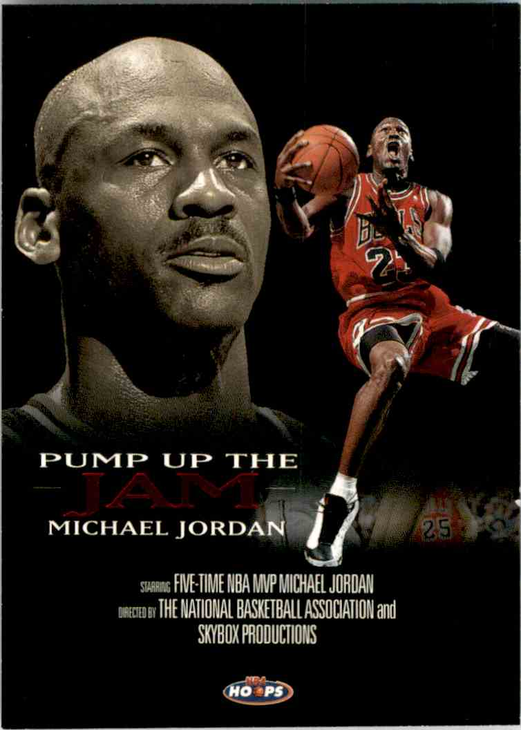 1998-99 Hoops Pump Up The Jam Michael Jordan #5 card front image