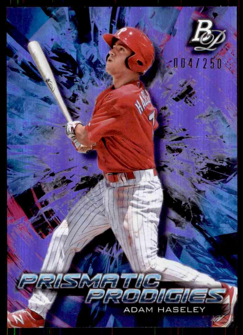2018 Bowman Platinum Prismatic Prodigies Adam Haseley #PPP-26 card front image