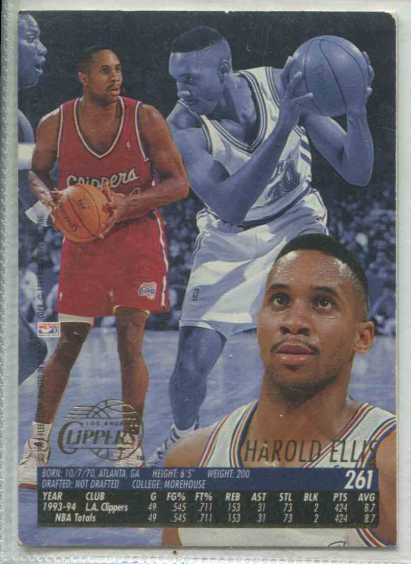 1995 96 Fleer Ultra Harold Ellis 261 On Kronozio