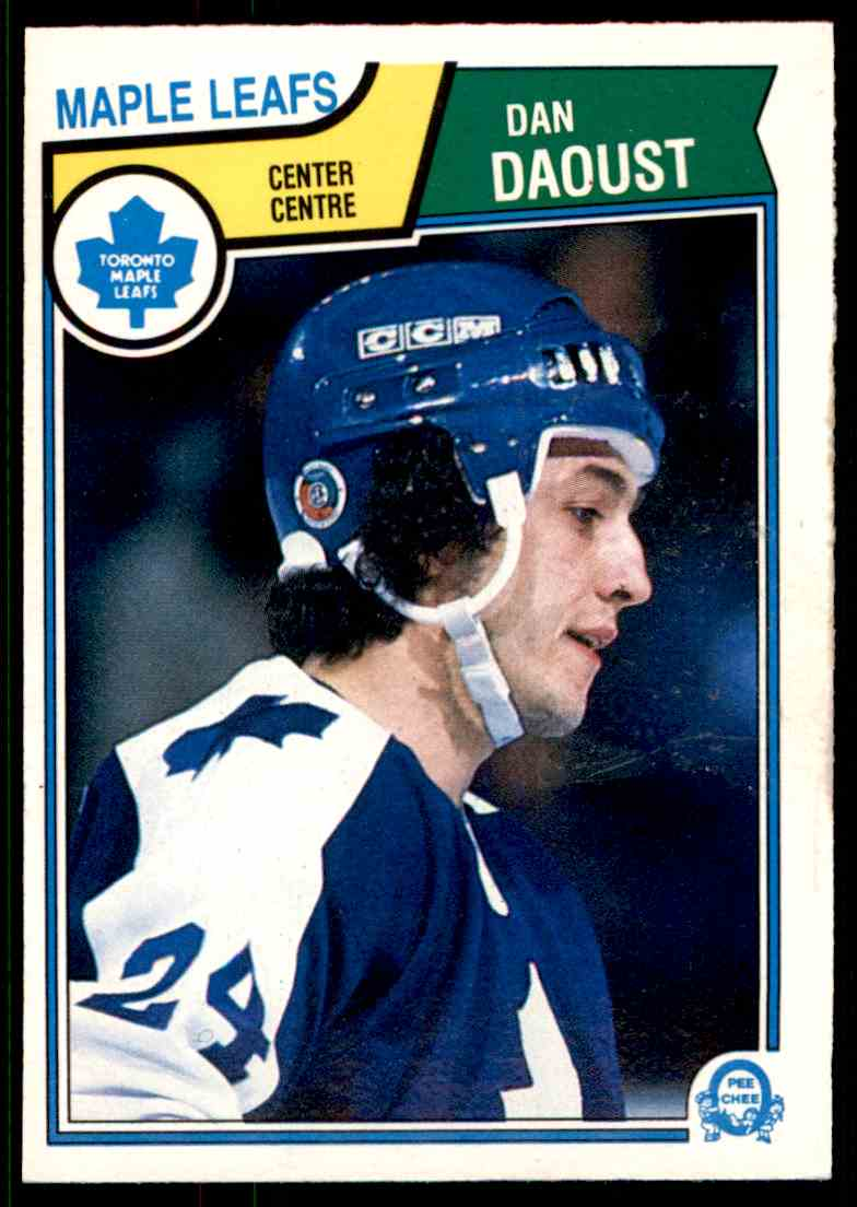 1983-84 O-Pee-Chee Dan Daoust #328 card front image