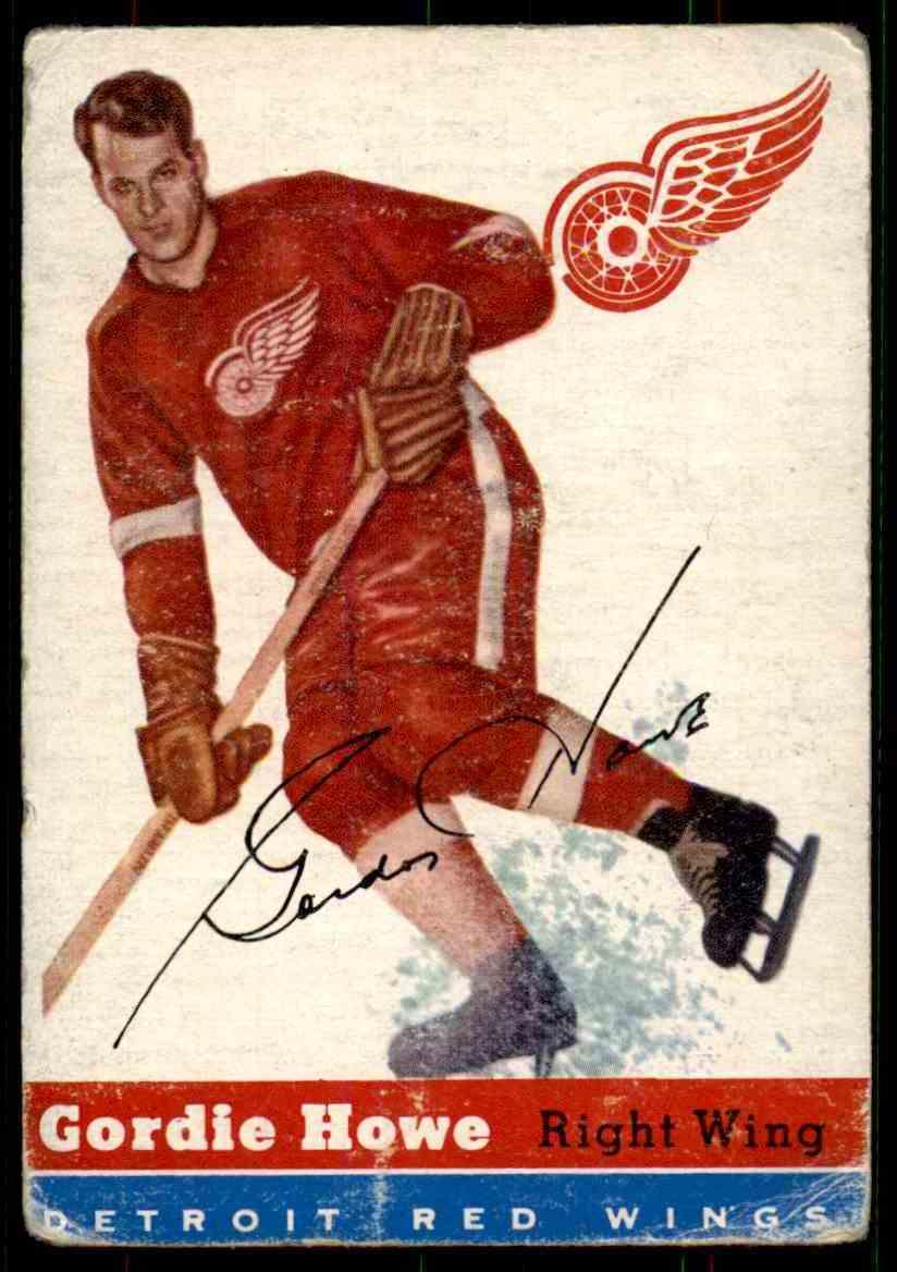 1954-55 Topps Gordie Howe #8 card front image