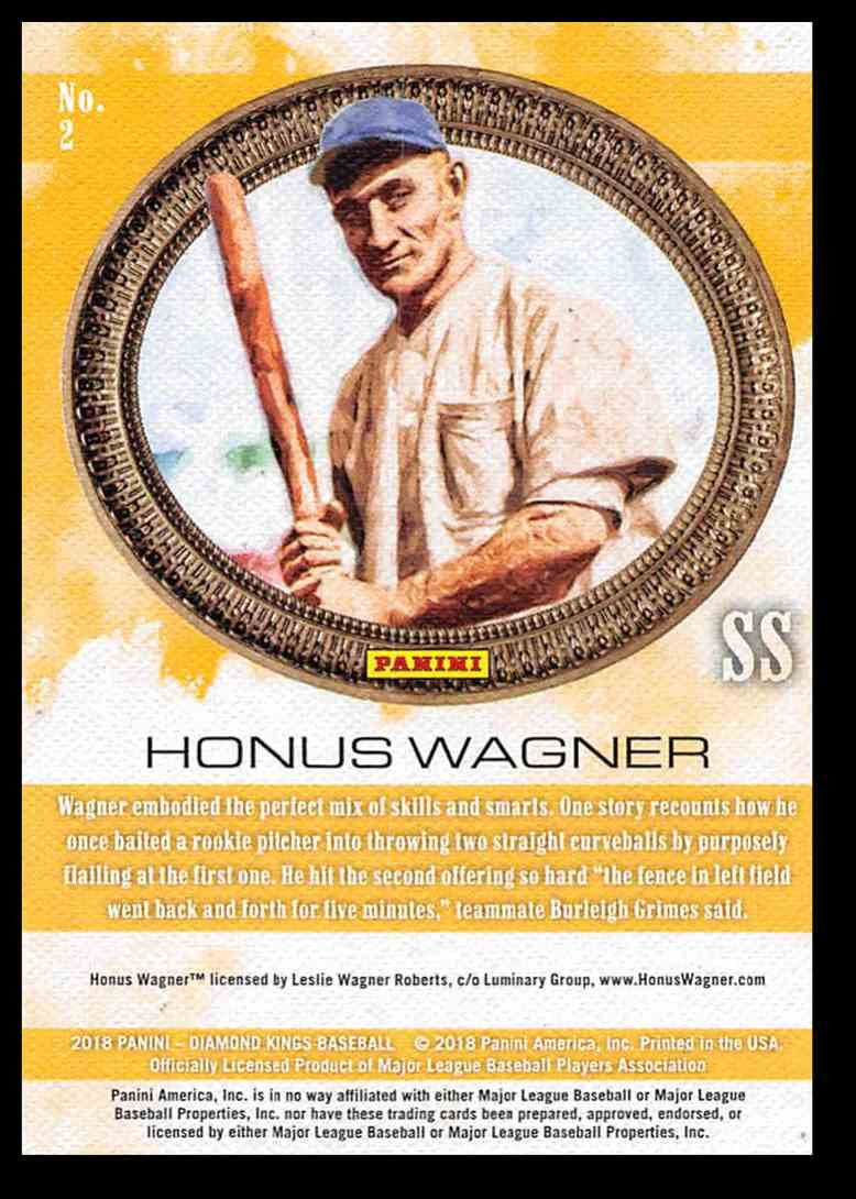 2018 Panini Diamond Kings Honus Wagner #2 card back image