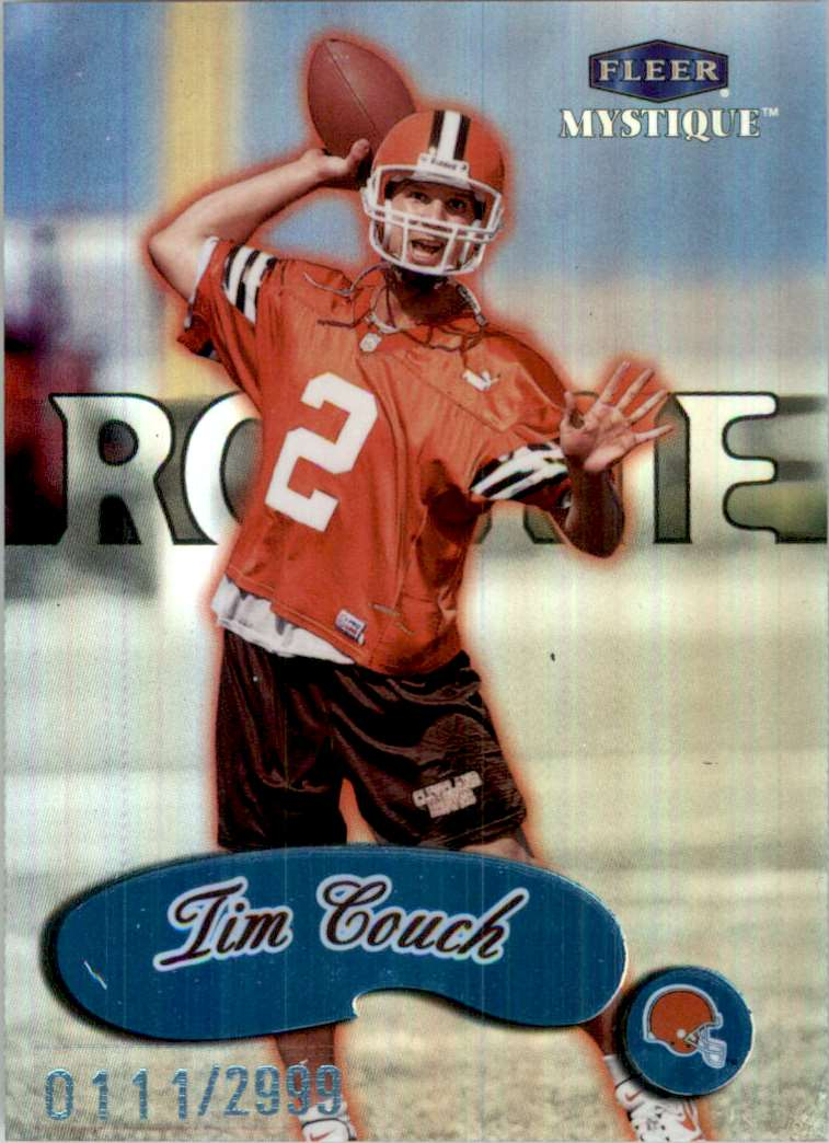 1999 Fleer Mystique Tim Couch RC #101 card front image