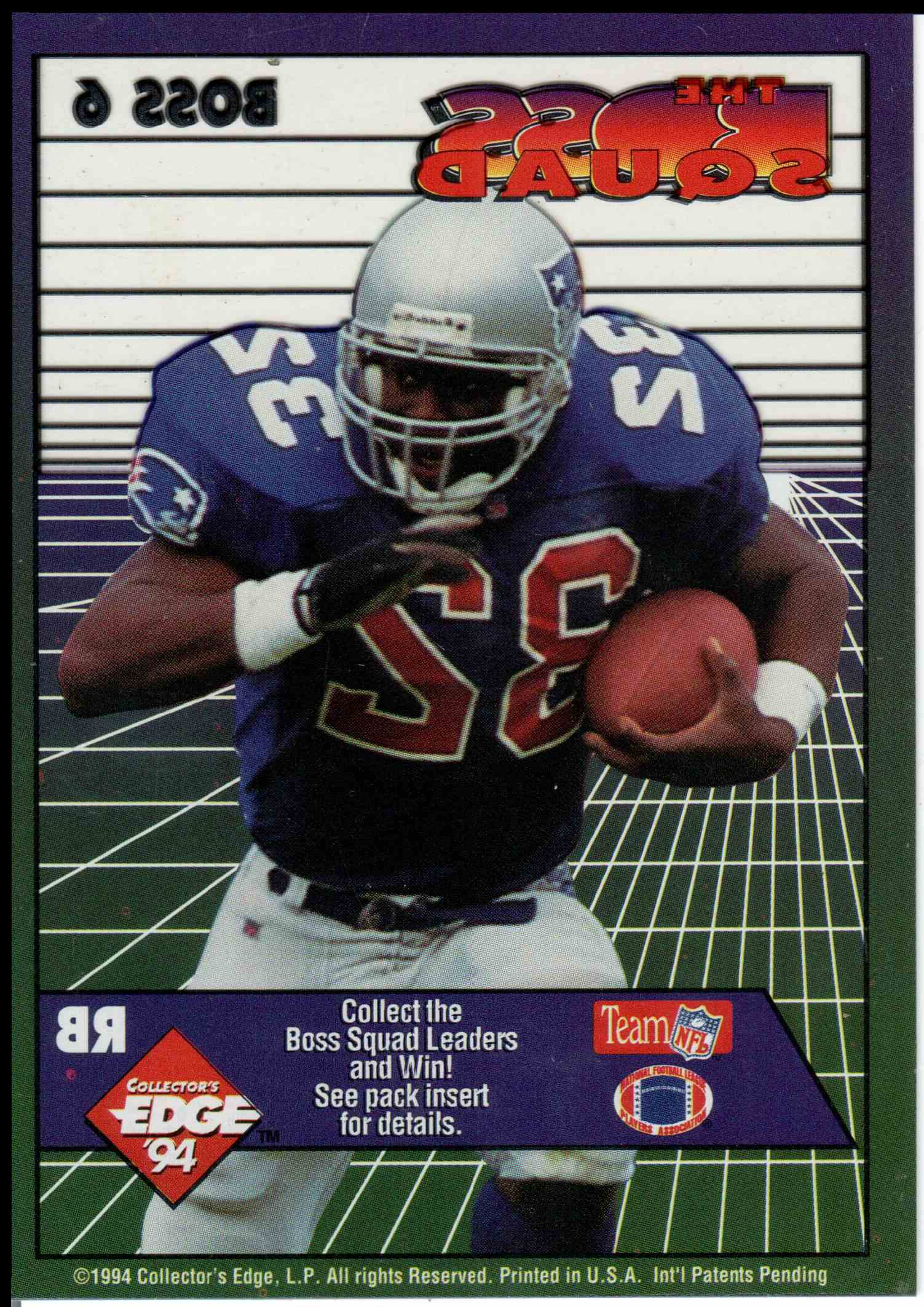 1994 Collectors Edge Leonard Russell #6 card back image