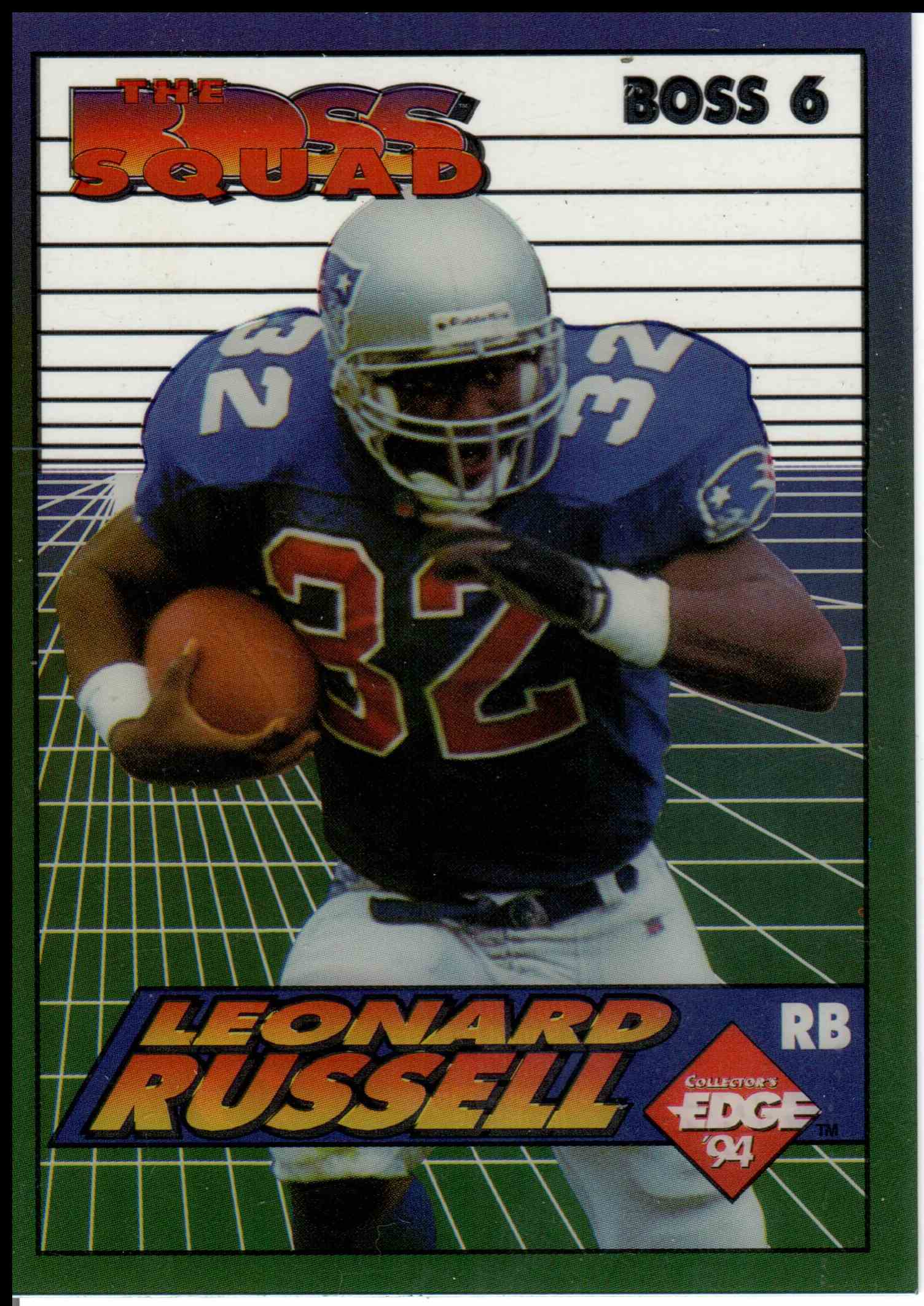 1994 Collectors Edge Leonard Russell #6 card front image