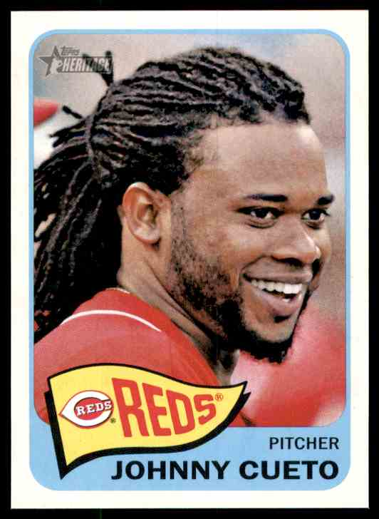 2014 Topps Heritage Johnny Cueto #123 card front image