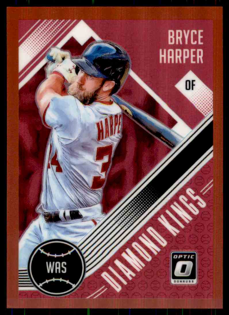 2018 Donruss Optic Red Diamond Kings Bryce Harper #10 card front image