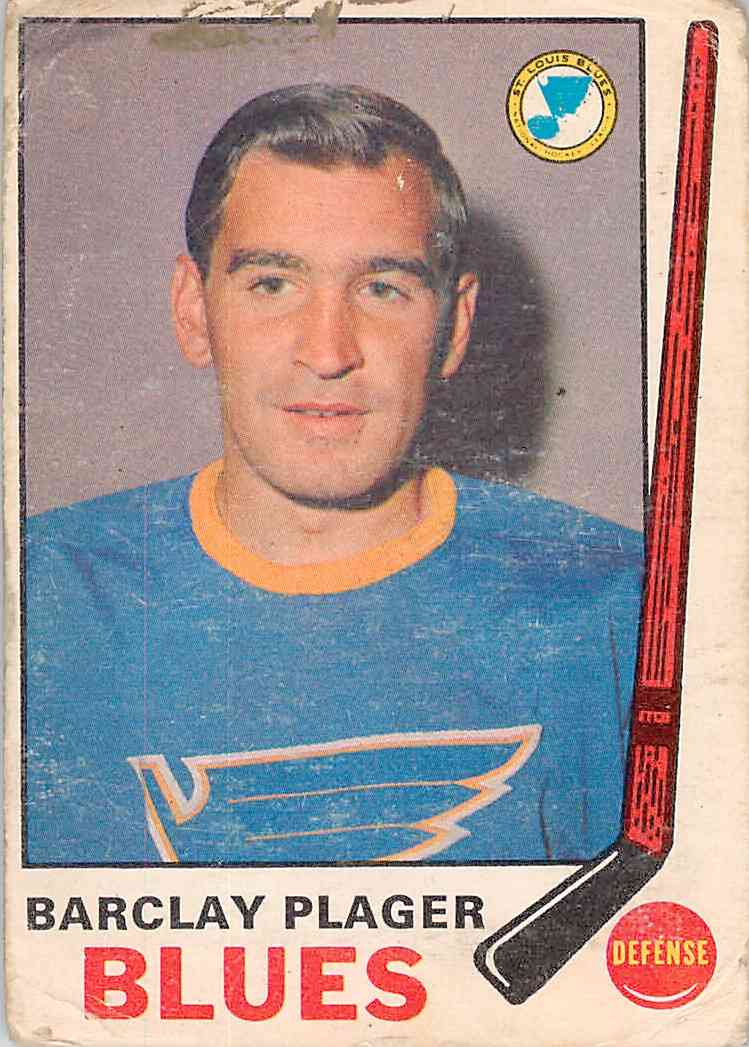 1969-70 O-Pee-Chee Barclay Plager #176 card front image