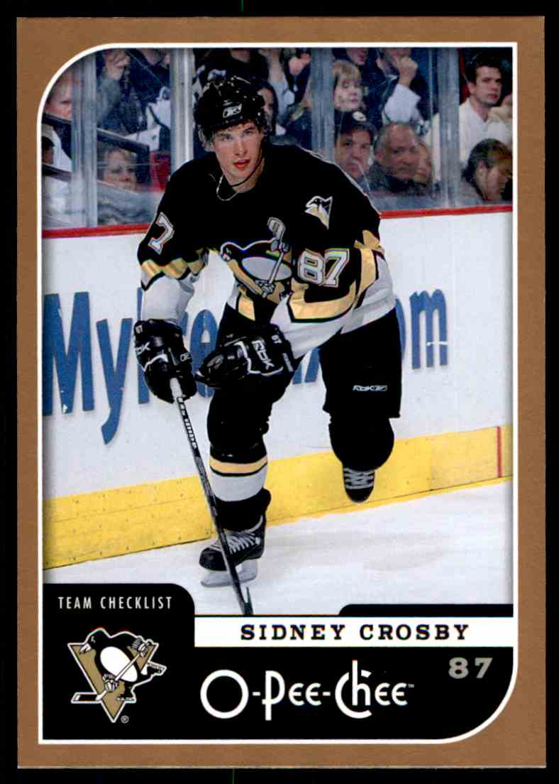 2006-07 O-Pee-Chee Sidney Crosby Checklist #694 card front image