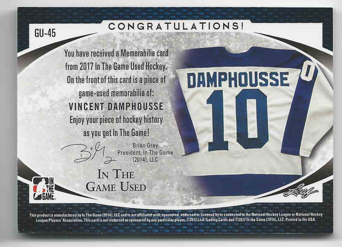 2017-18 ITG Used Jerseys Purple Spectrum Vincent Damphousse #GU-45 card back image