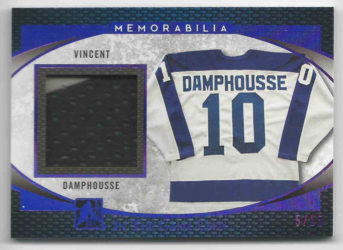 2017-18 ITG Used Jerseys Purple Spectrum Vincent Damphousse #GU-45 card front image