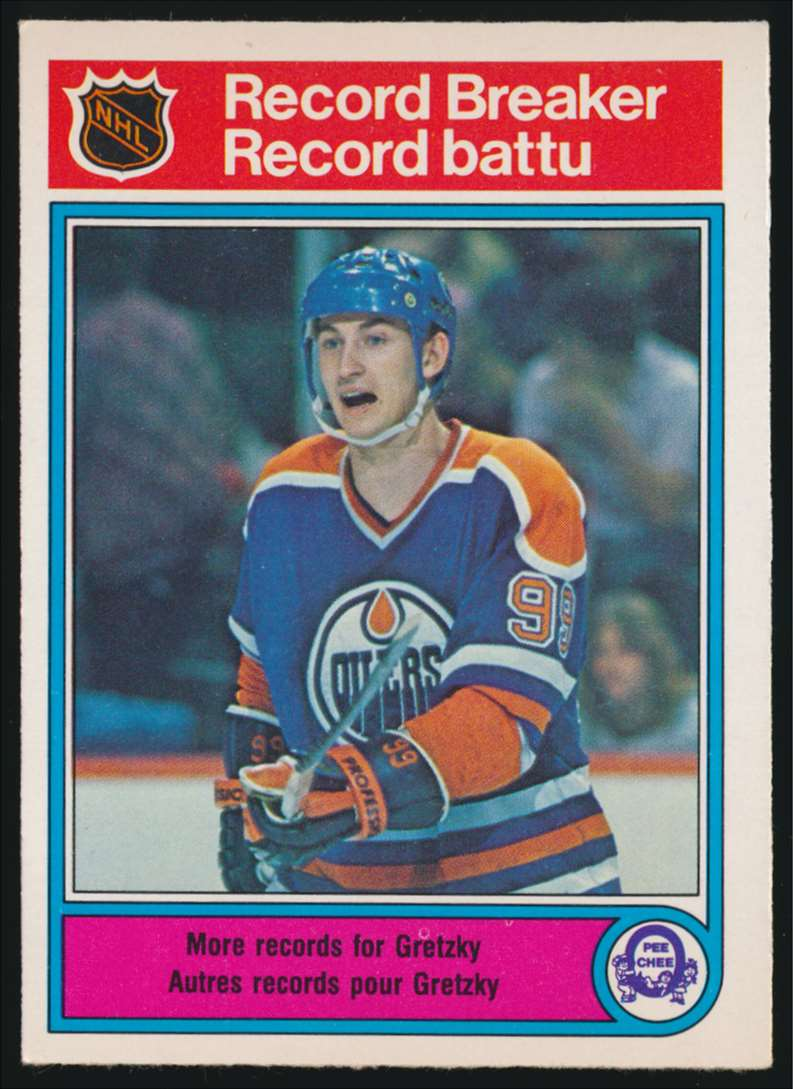 1982-83 OPC Wayne Gretzky Record Breaker #1 card front image