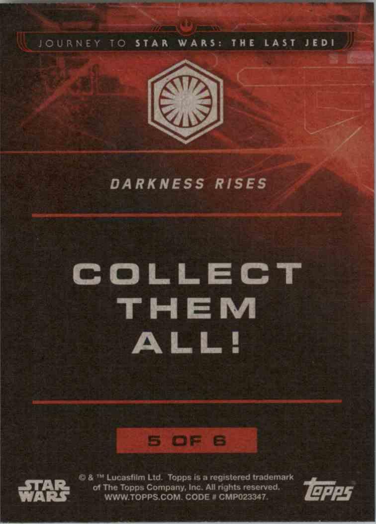 2017 Star Wars The Last Jedi First Order Darkness Rises #5 on Kronozio