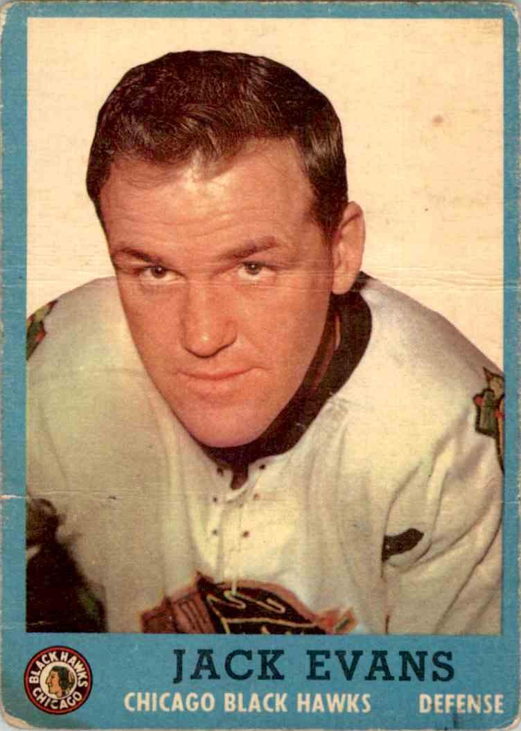 1962-63 Topps Jack Evans #26 card front image