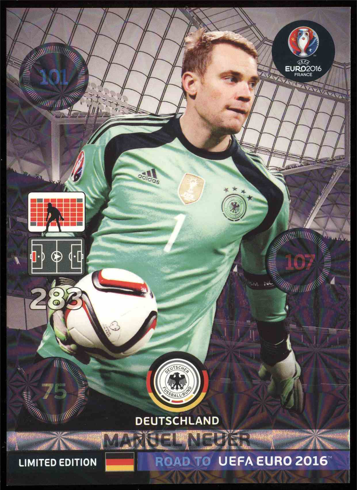 52036d690df 2015 Panini Road To Euro 2016 Adrenalyn Xl Limited Editions Xl Size Manuel  Neuer  NNO