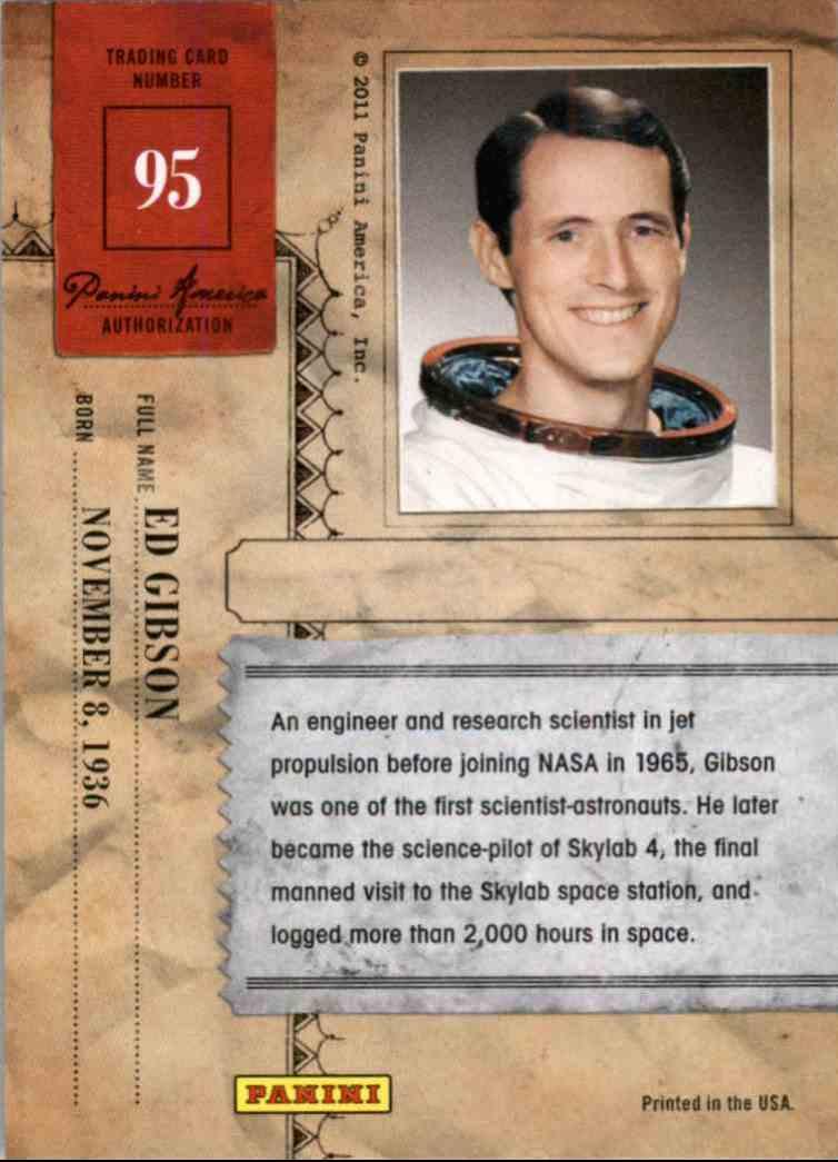 2011 Panini Americana Foil Ed Gibson #95 card back image