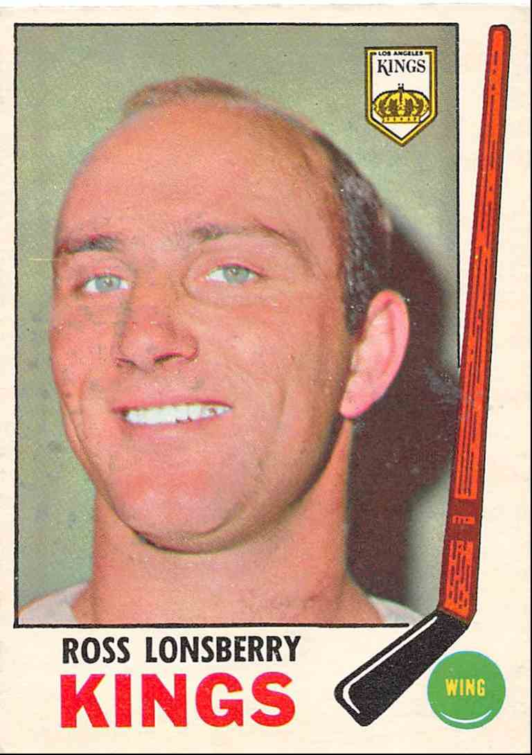 1969-70 O-Pee-Chee Ross Lonsberry #104 card front image