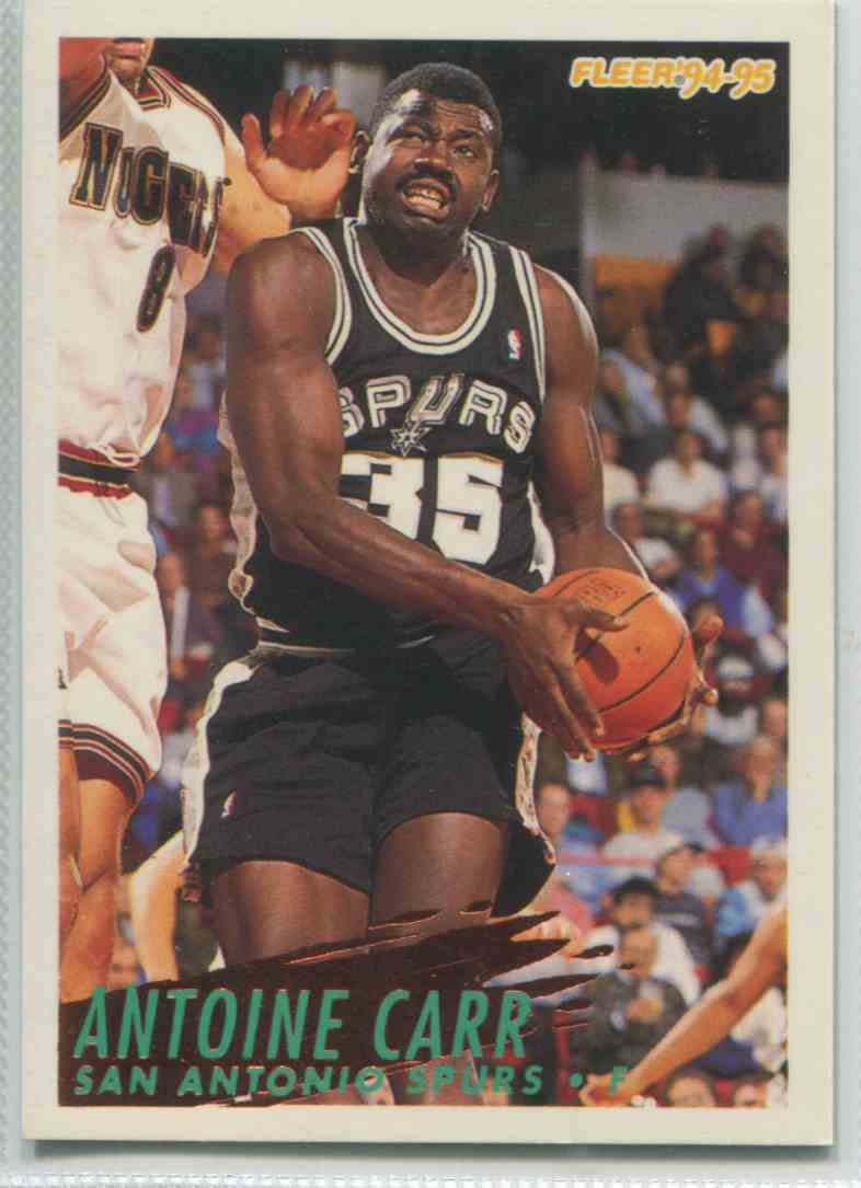 1994 95 Fleer Antoine Carr 202 on Kronozio