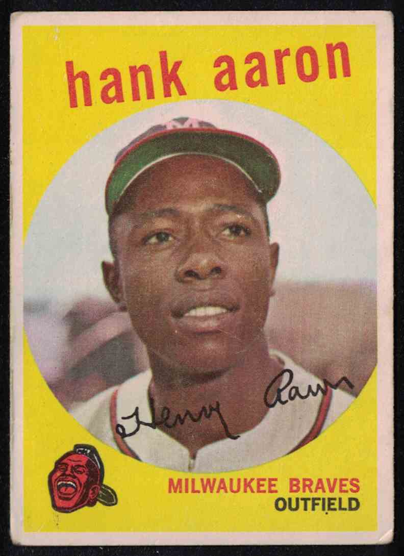 1959 Topps Hank Aaron VG #380 card front image