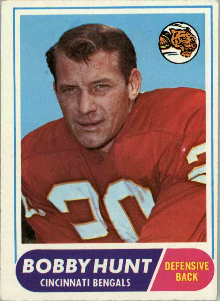 1968 Topps Bobby Hunt #122 card front image