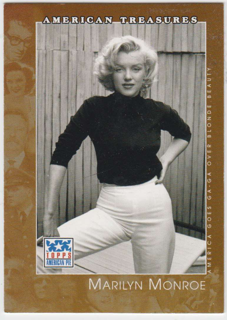 2002 Topps American Pie Marilyn Monroe #121 card front image