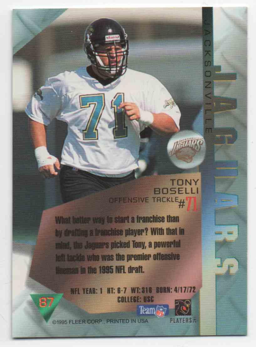 1995 Metal Tony Boselli #87 card back image