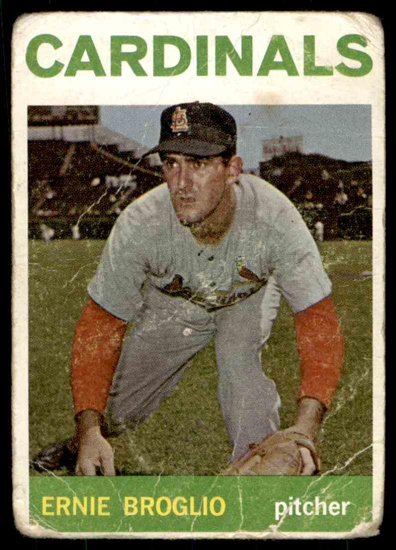 1964 Topps Ernie Broglio #59 card front image