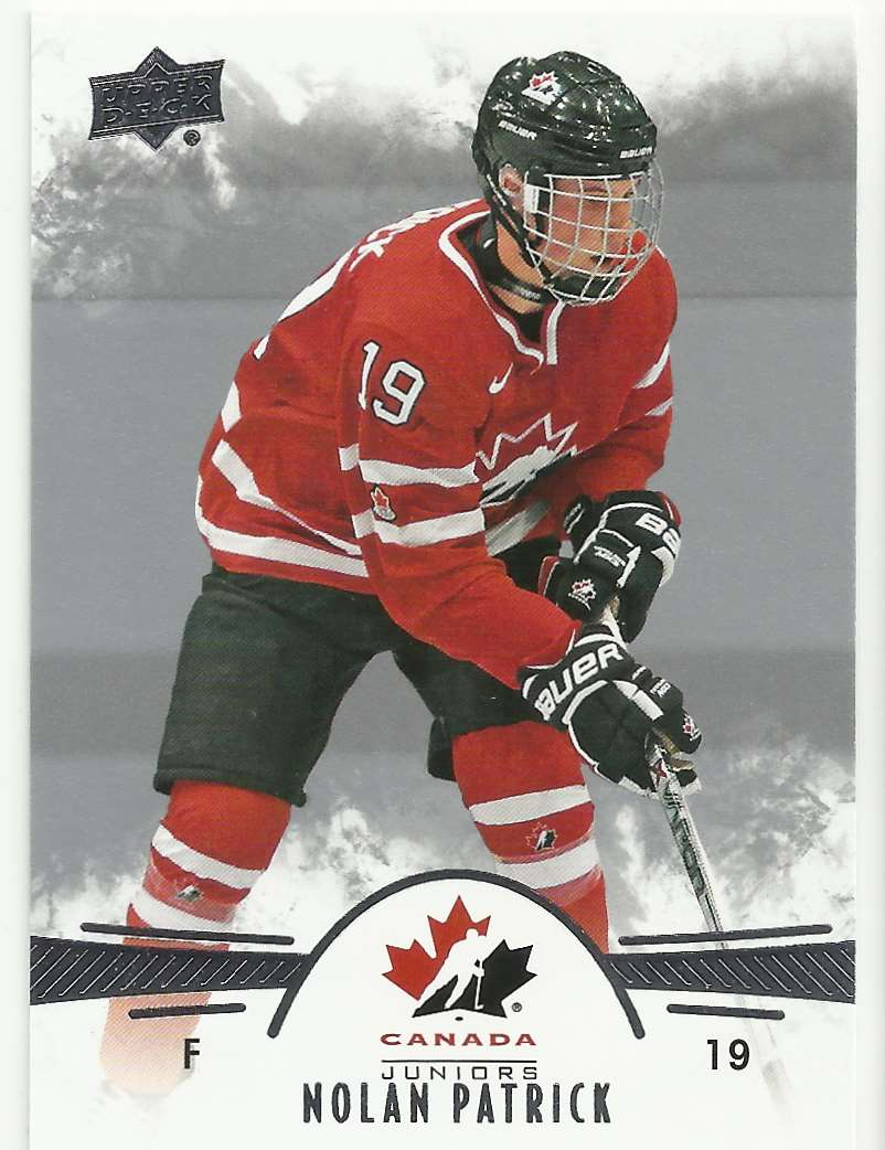 2016-17 Upper Deck Team Canada Juniors Nolan Patrick #65 card front image