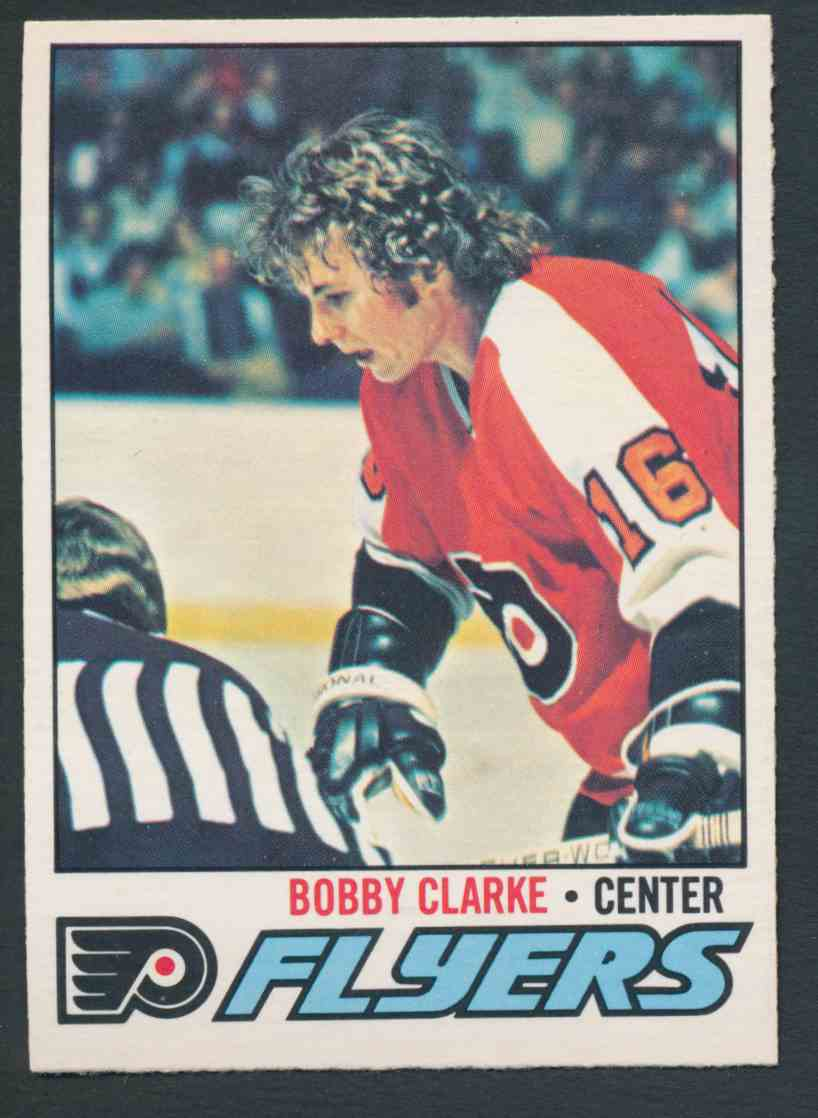 1977-78 O-Pee-Chee Bobby Clarke #115 card front image