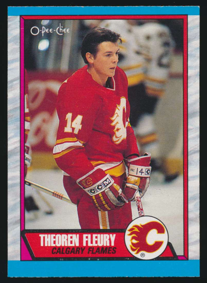 1989-90 OPC Theo Fleury #232 card front image