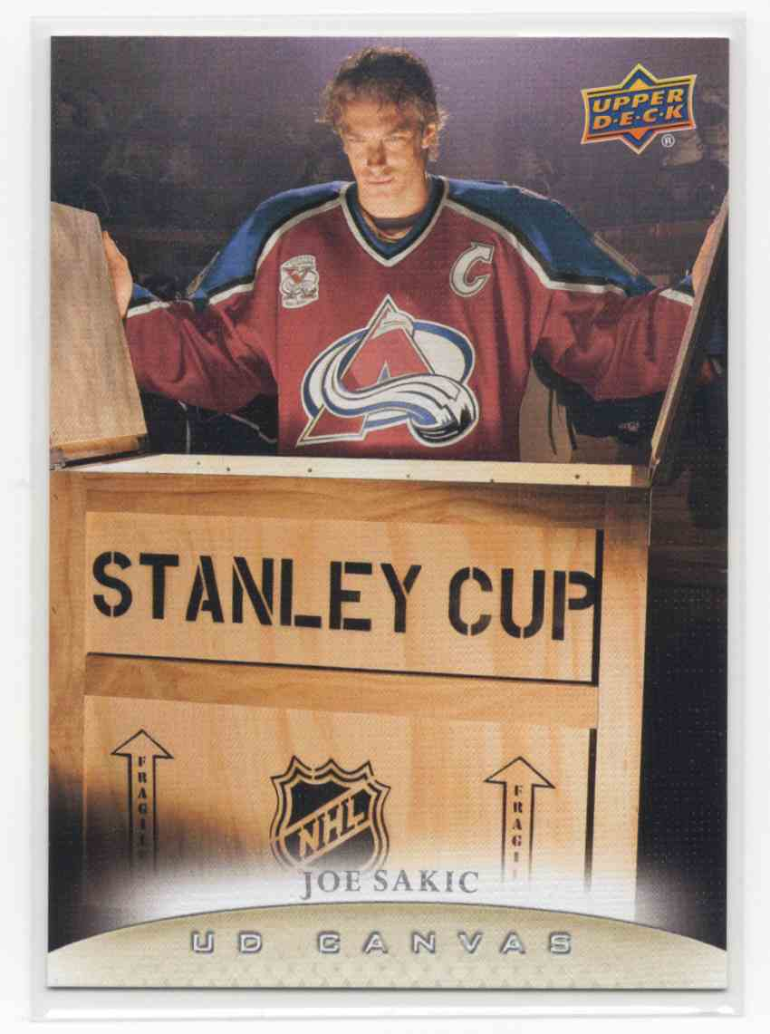 2011-12 Upper Deck Canvas Retired Stars Joe Sakic #C249 card front image