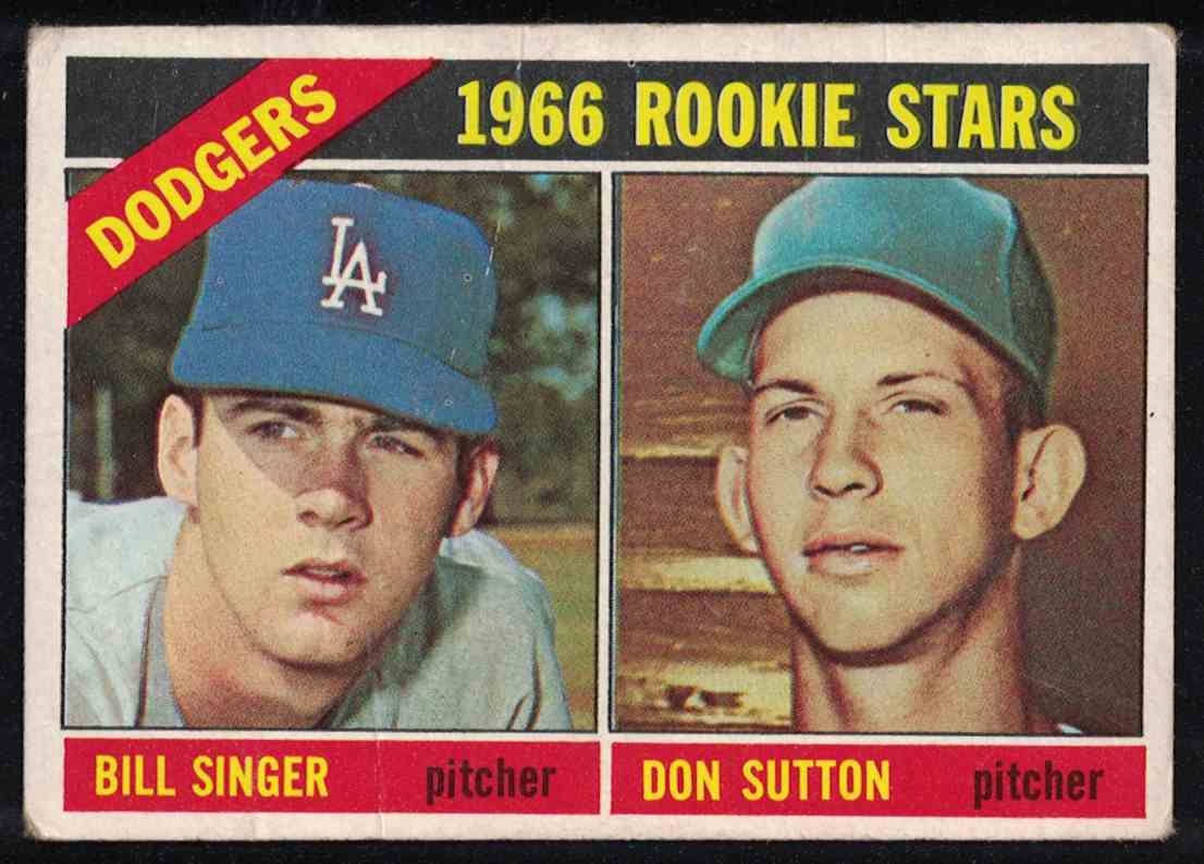 1966 Topps Don Sutton Dodgers Rookie Stars VG+ (Crease) #288 card front image
