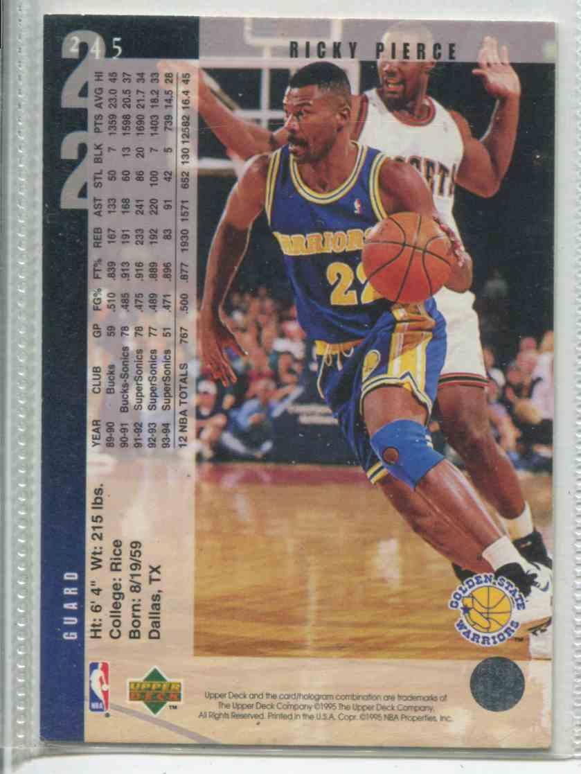 1994 95 Upper Deck Ricky Pierce 245 on Kronozio