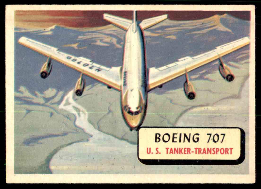 4 Boeing 707 trading cards for sale