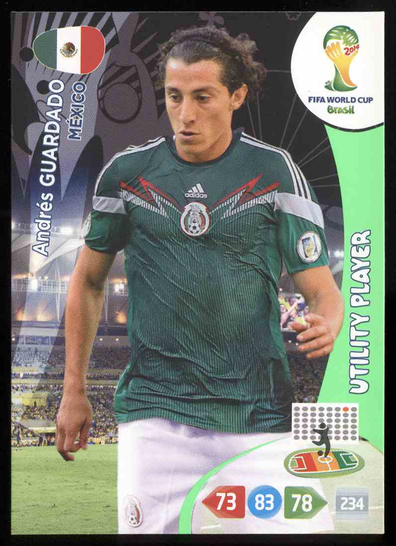 9592a635d16 2014 Panini Adrenalyn Xl Fifa World Cup Brazil Andres Guardado  245 card  front image