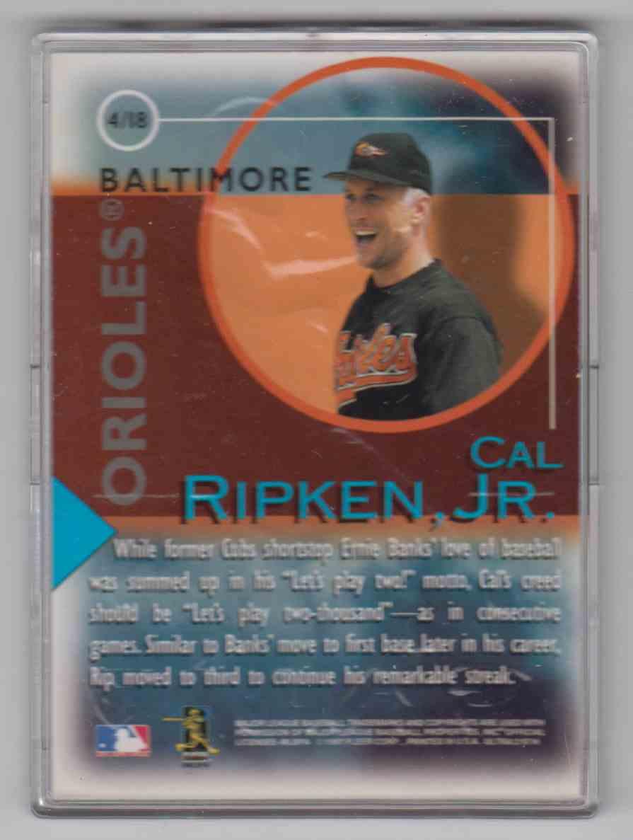 1997 Ultra Fame Game Cal Ripken JR #4 card back image