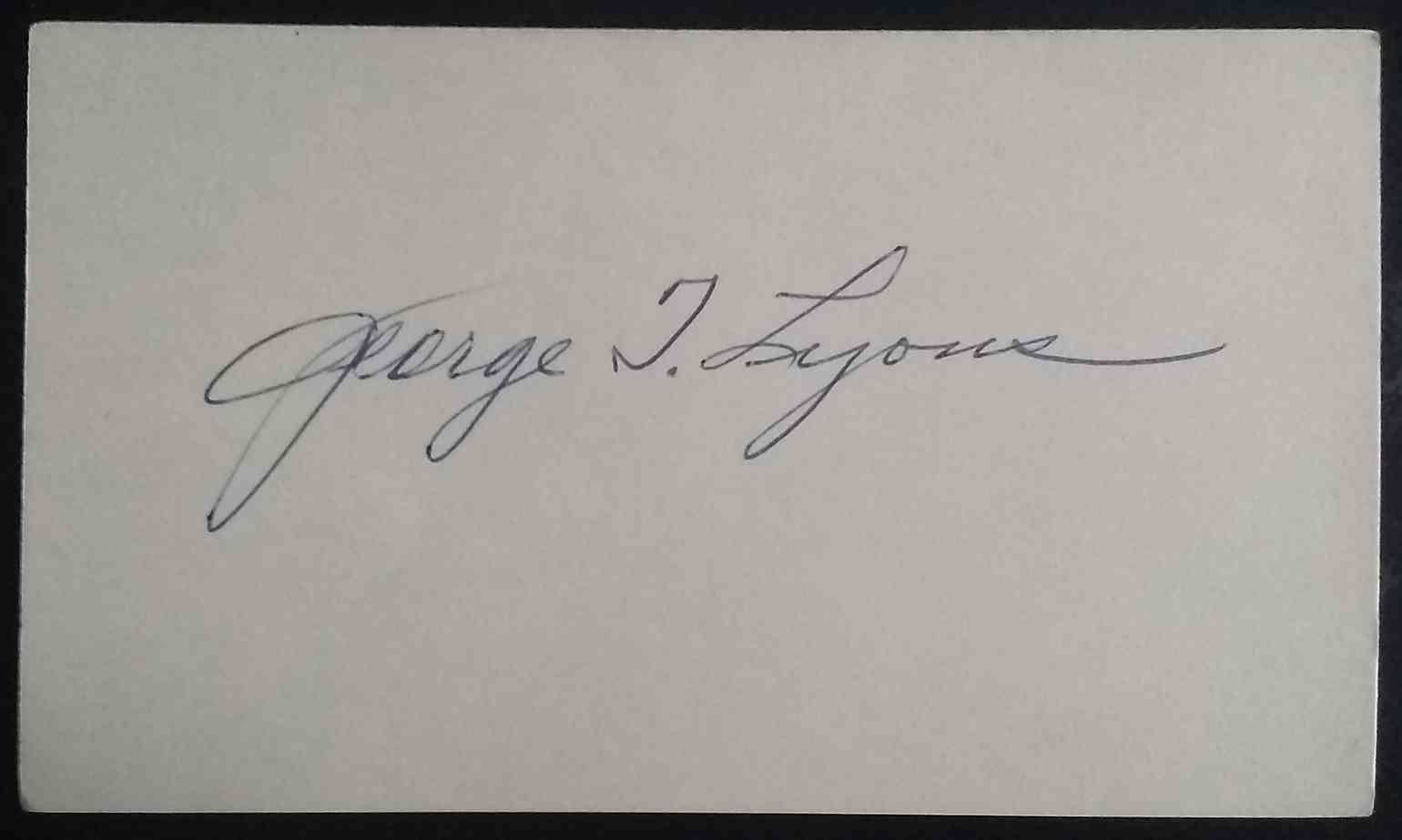 "1920 3X5 George ""Tony"" Lyons card front image"