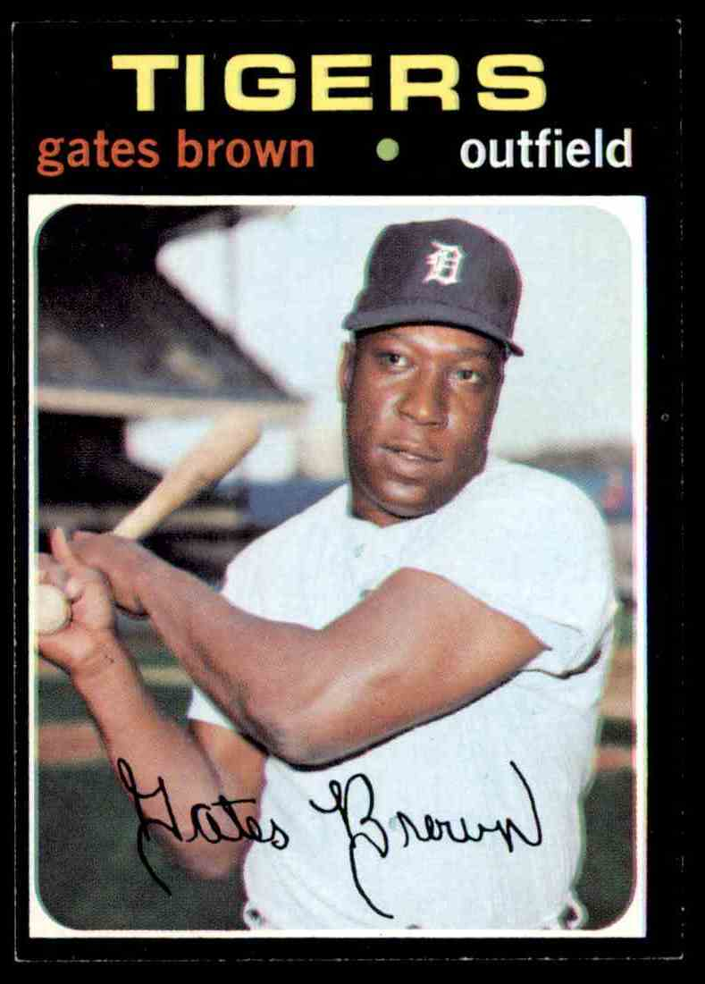 1971 Topps Gates Brown #503 card front image