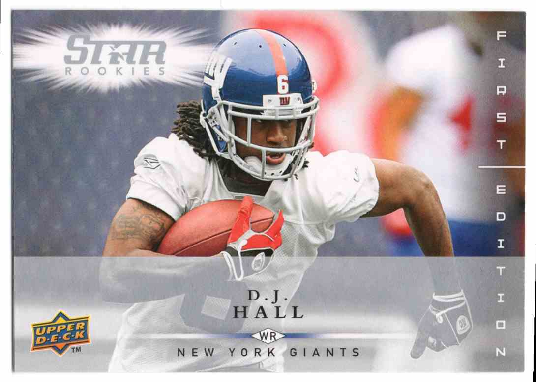 2008 Upper Deck First Edition D.J. Hall #158 card front image