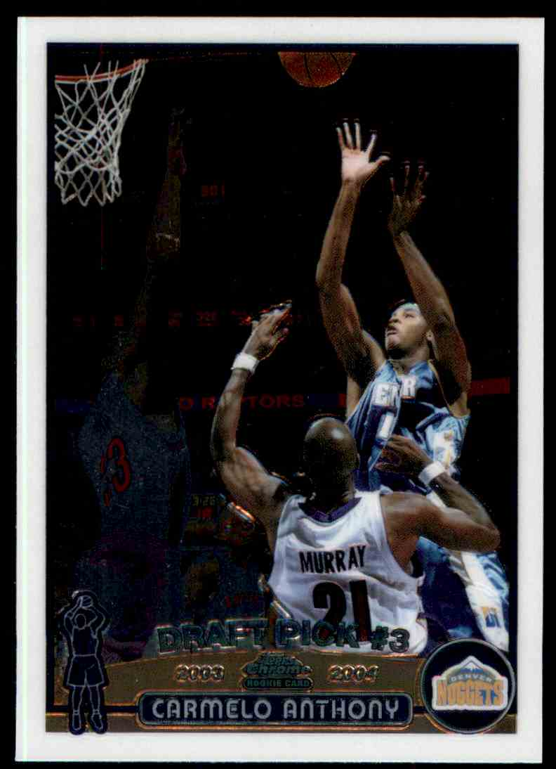 2003-04 Topps Chrome Rookie Draft Pick #3 Carmelo Anthony card front image