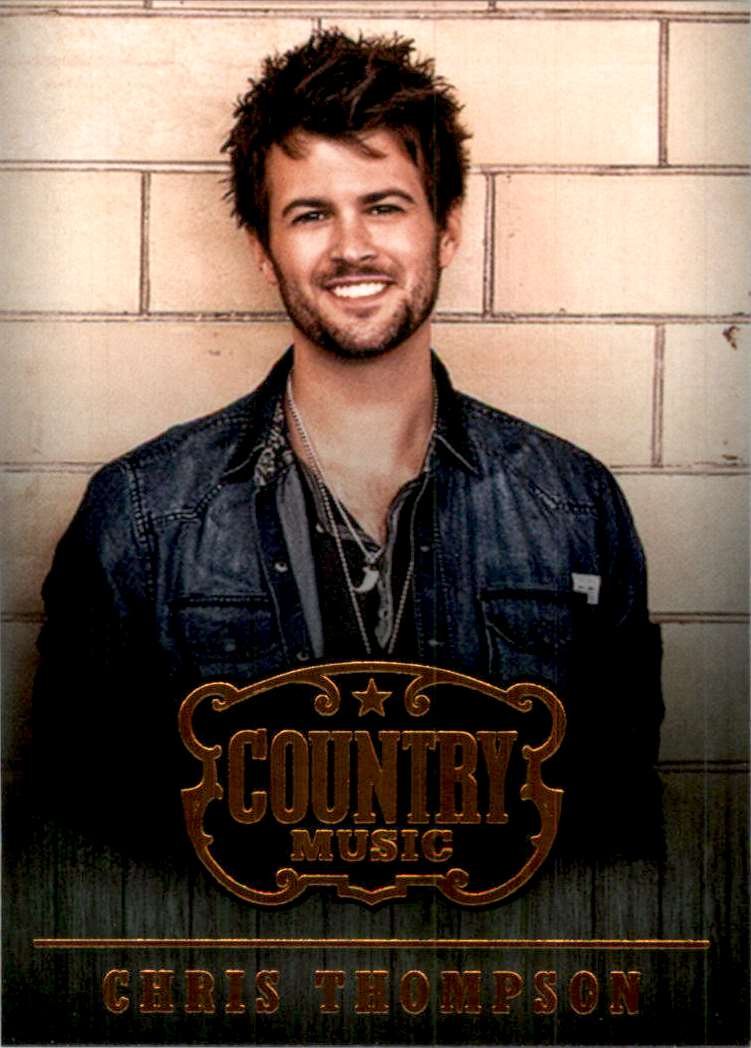 2015 Country Music Retail Chris Thompson #4 card front image